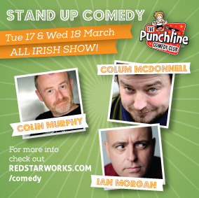 Colin Murphy, Colum McDonnell and Ian Morgan comedy club china st patrick's day the local beijing