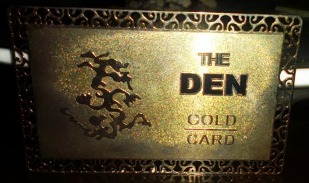 the den gold card