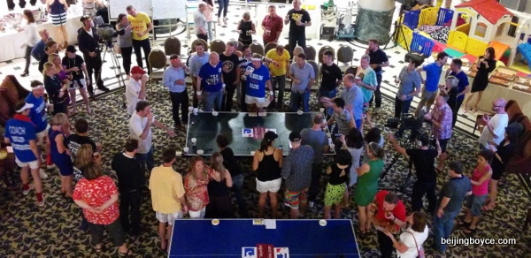 International Beer Pong Championship at Beijing Riviera China 2015