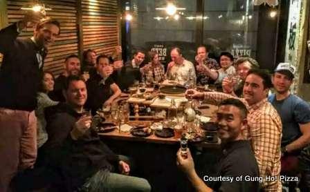 gung ho baijiu and pizza night with john o'loghlen beijing china