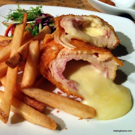 2015 Comfort Foods Beijing China Chicken Cordon Bleu at The Den