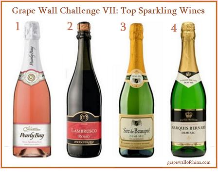 grape wall of china challenge 2015 top sparkling wine pearly bay menestrello sire de beaupre marquis bernard