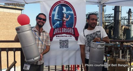 Andres Quiros and Chris DaBreo of Bell Banger Brewing Beijing China