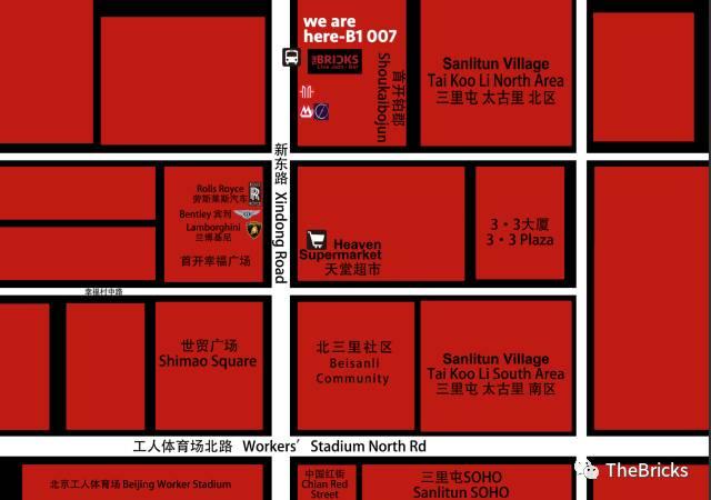 The Bricks Live Jazz Bar map