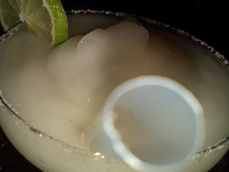 frozen margarita with straw at q bar beijing