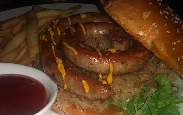 Groovy Schiller's sausage burger