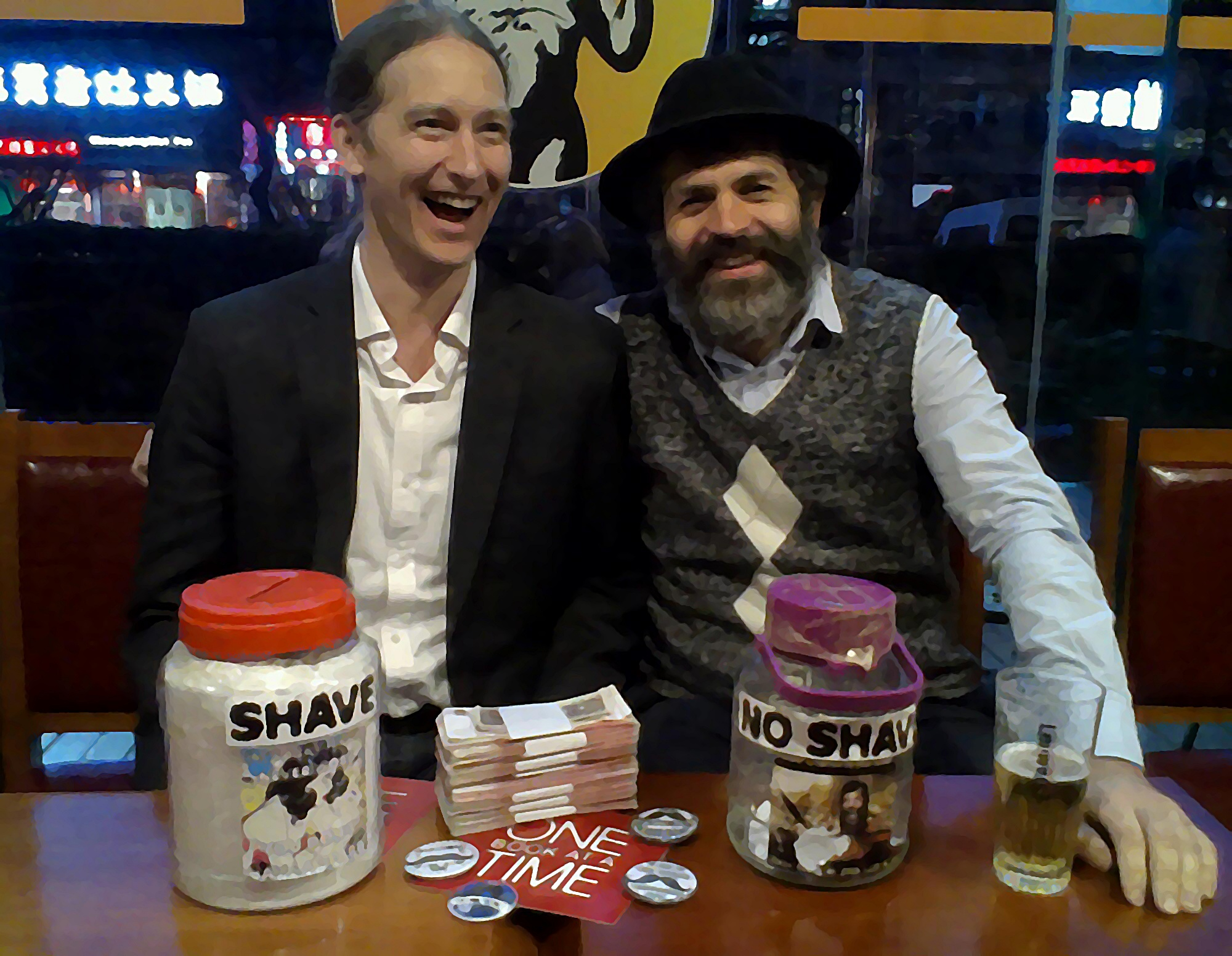 Maovember Cash Handover Tom Stader Library Project Beer Mania Paddy O'Shea's 2