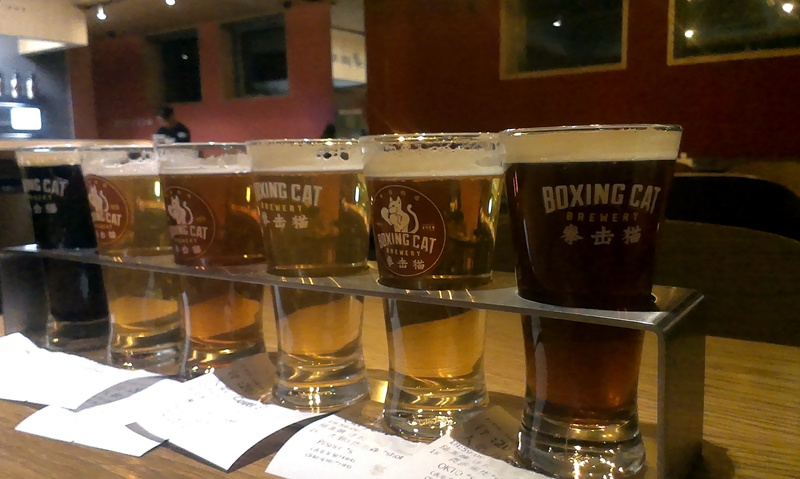 Boxing Cat Brewery Flight