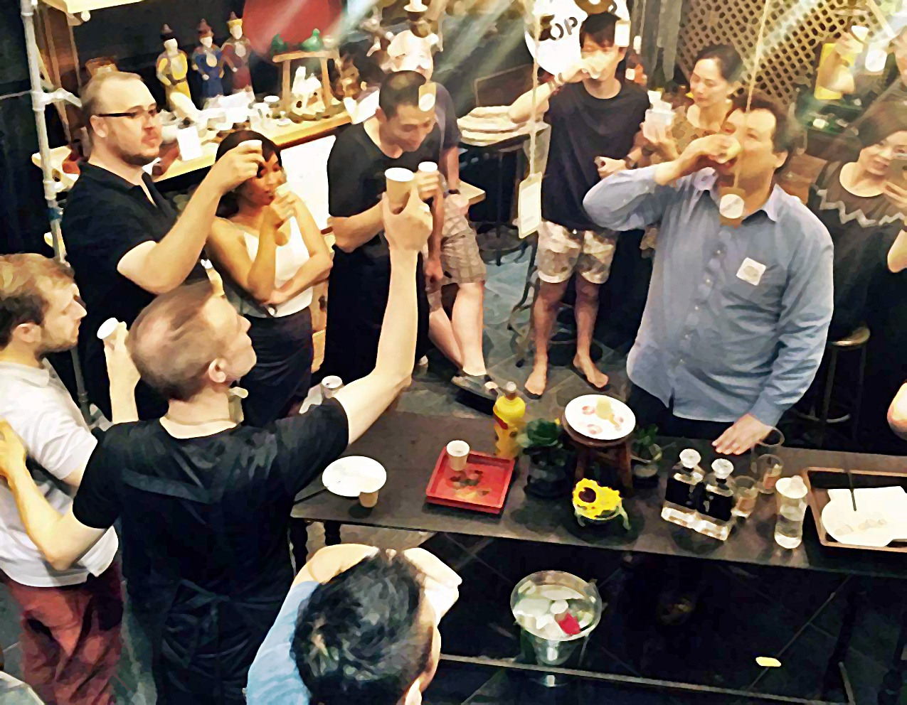 pop-up world baijiu day for presentation