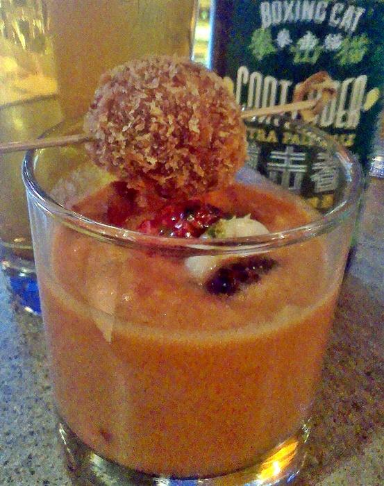 pomegranate gazacho q mex taqueria